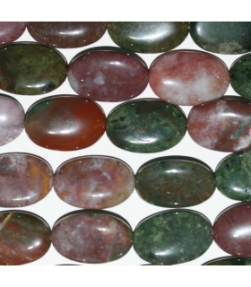 Indian Agate Smooth Oval 24x16mm.-Strand 40cm.-Item.9307