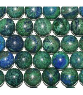 Azurite Round Beads 14mm.-Strand 39cm.-Item.9332