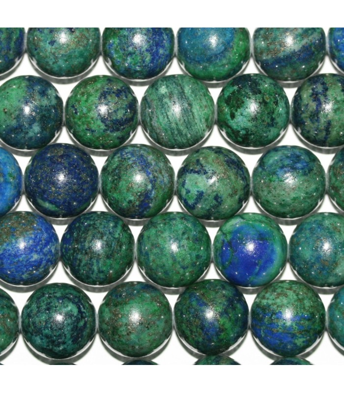 Azurite Round Beads 14mm.-Strand 39cm.-Item.9332