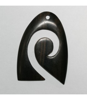 Ebony Pendant 60x45mm.Approx.-Item.9483