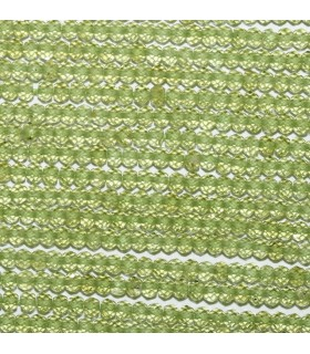Peridot Faceted Rondelle 3x2mm.-Strand 33cm.-Item.9508