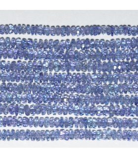 Tanzanite Faceted Rondelle 3x1.5mm.-Strand 33cm.-Item.9516