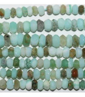 Peruvian Opal Faceted Rondelle 4x3mm.-Strand 33cm.-Item.9543