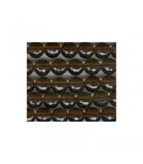 Smoky Quartz Faceted Round Beads 10mm.-Drilled 2.50mm -Strand 37cm.-Item.2929