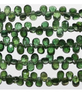 Green Apatite Faceted Drop 7x5mm.-Strand 21cm.-Item.9578