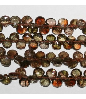 Andalucite Faceted Drop 5-6mm.-Strand 22cm-Item.9587