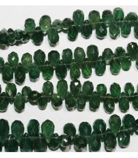 Green Apatite Faceted Drop 7x4mm.-Strand 20cm.-Item.9592