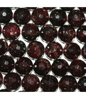 Garnet Faceted Round Beads 13mm.-Strand 39cm.-Item.9610