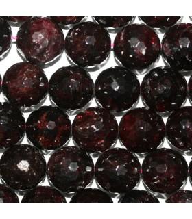 Garnet Faceted Round Beads 14mm.-Strand 39cm.-Item.9611