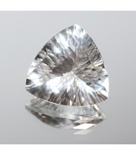 Cristal De Roca Triangulo Facetado ( 22.4 CT ) 20mm.-Ref.7844