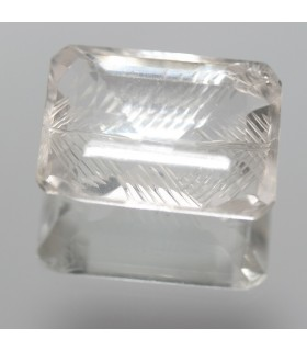 Cristal De Roca Rectangular Tallado ( 51.4 CT ) 27x17mm.-Ref.7859