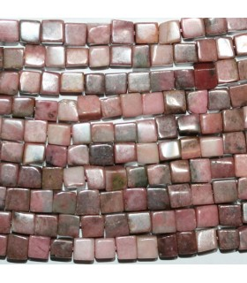 Rhodonite Smooth Cube 6mm.-Strand 39cm.-Item.9629