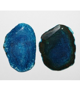 Colgante Agata Azul Con Facetas 45-80mm.Aprox.-Ref.7799
