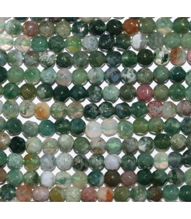 Indian Agate Faceted Round Beads 4mm.-Strand 39cm.-Item.9646