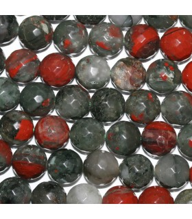 Heliotrope Faceted Round Beads 12mm.-Strand 38cm.-Item. 9651
