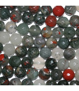 Heliotrope Faceted Round Beads 10mm.-Strand 38cm.-Item. 9660