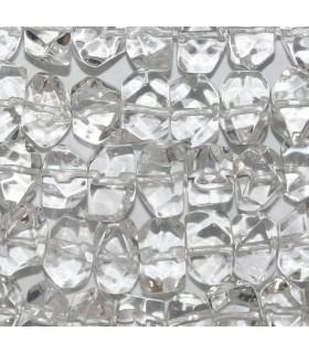 Cristal De Roca Nugget Facetado 8x12mm.Aprox.-Hilo 39cm.-Ref.9662