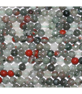 Heliotrope Faceted Round Beads 6mm.-Strand 38cm.-Item. 9673