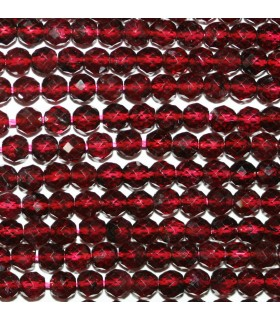 Garnet Faceted Round Beads 4mm.-Strand 38cm.-Item.9684