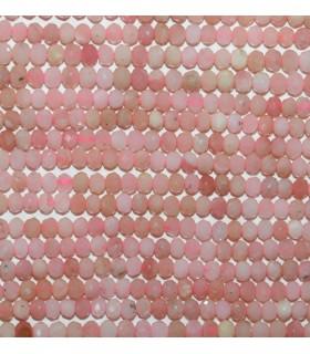 Pink Opal Faceted Rondelle 3x2mm.-Strand 40cm.-Item.9691