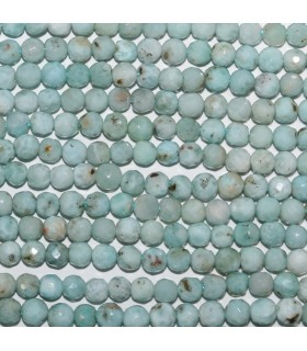 Larimar Faceted Round Beads 4mm.-Strand 40cm.-Item.9696