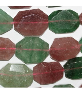 Aventurine - Cherry Quartz Faceted Oval 28x22mm.Approx.-Strand 40cm.-Item.9708