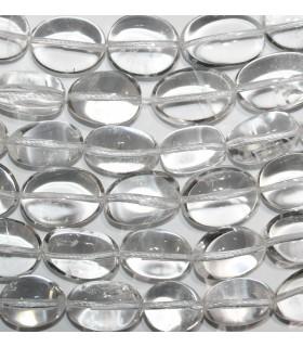 Rock Crystal Quartz Smooth Nugget 20x13mm.Approx.-Strand 40cm.-Item.9730