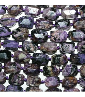 Charoite Faceted Nugget 17x12mm.Approx.-Strand 39cm.-Item.9735