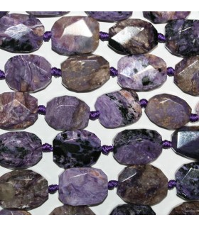 Charoite Faceted Oval 20x15mm.Approx.-Strand 40cm.-Item.9736