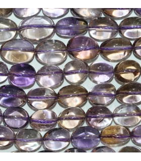 Ametrine Smooth Nugget 14x11mm.-Strand 40cm.-Item.9753
