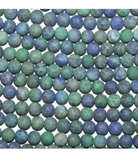 Azurite Matte Finish Round Beads 6mm.-Strand 38cm.-Item.9755