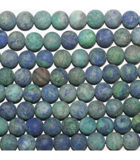 Azurite Matte Finish Round Beads 8mm.-Strand 40cm.-Item.9756