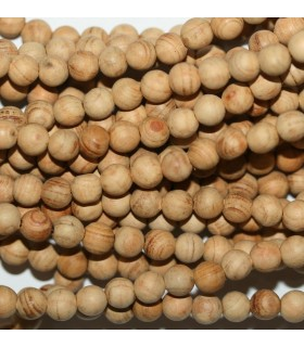 Sandalwood Mala Round Beads 6mm.-Long 66cm.-Item.9780