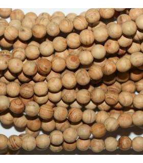 Sandalwood Mala Round Beads 6mm.-Long 66cm.-Item.9780