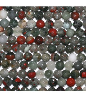 Heliotrope Faceted Round Beads 8mm.-Strand 38cm.-Item. 9781