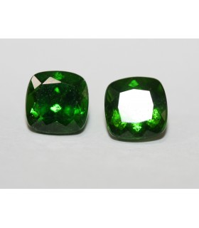 Chrome Diopside Square Pair 6mm Item 065PE