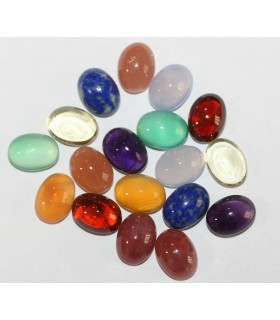 Lot Of 9 Pairs Of Oval 9x7mm Cabochon Item.075PE