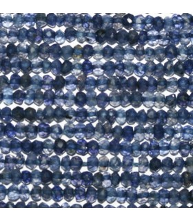 Iolite Faceted Rondelle 3x2mm.-Strand 34cm.-Item.9822