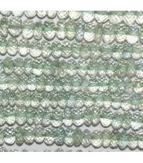 Amatista Verde ( Prasiolita ) Rodaja Facetada 6x3mm.-Hilo 17cm.-Ref.9830