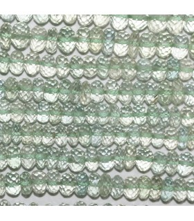 Green Amethyst ( Prasiolite ) Faceted Rondelle 6x3mm.-Strand 17cm.-Item.9830