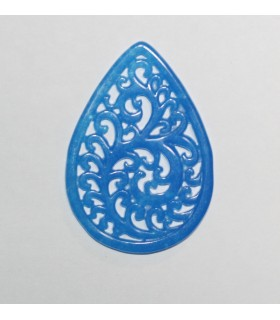 Blue Jade Pendant 45x32mm.-Item.982JA