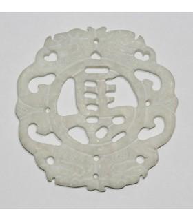 White Jade Pendant 80mm.-Item.988JB