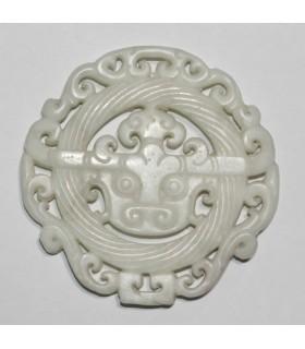 Colgante De Jade Blanco 68mm.-Ref.984JB