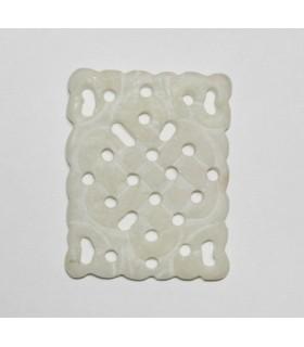White Jade Pendant 43x33mm.-Item.986JB