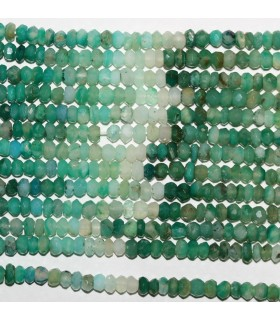 Peruvian Opal Faceted Rondelle 4x3mm.-Strand 37cm.-Item.9849