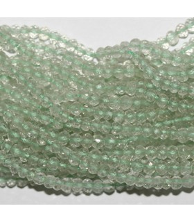 Green Amethyst ( Prasiolite ) Faceted Rondelle 3x2mm.-Strand 34cm.-Item.9851