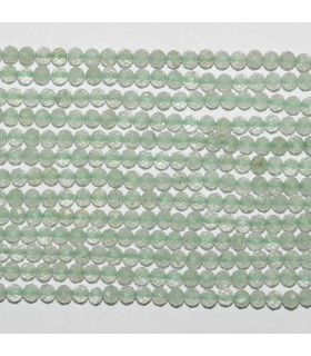 Green Amethyst ( Prasiolite ) Faceted Round 2.5mm.-Strand 33cm.-Item.9857