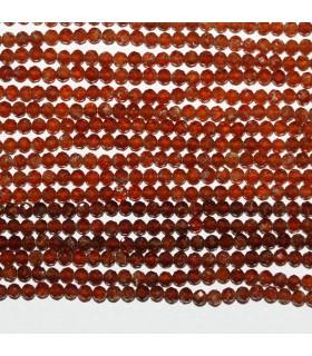Hessonite Garnet Faceted Round 2.5mm.-Strand 33cm.-Item.9859