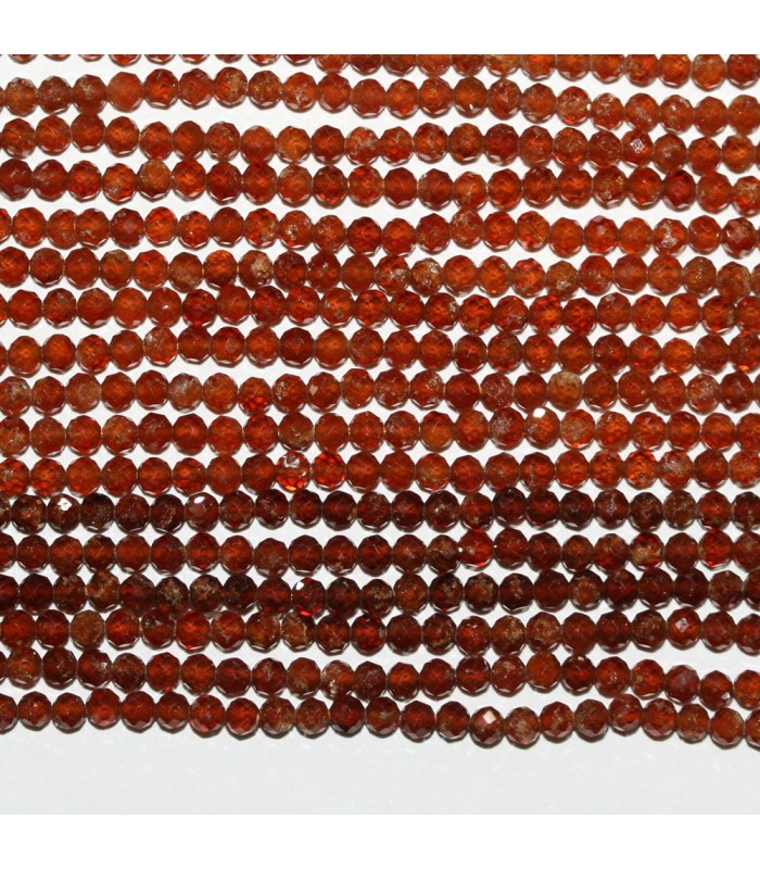 Hessonite Garnet Faceted Round 2.5mm.-Strand 33cm.-Item.9859
