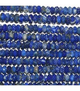 Lapis Lazuli Faceted Rondelle 4-5x2mm.-Strand 33cm.-Item.9869